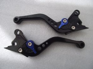 Aprilia FALCO/SL1000 (00-04), CNC levers short black/blue adjusters, DB80/DC80
